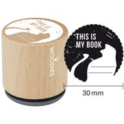 """Woodies Mounted Rubber Stamp 1.35""""-This Is My Book"""