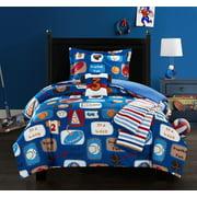 Chic Home Fun Camp 4 Piece Comforter Set Star Athlete Theme
