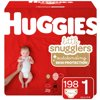 Huggies Little Snugglers Baby Diapers, Size 1, 198 Ct, Economy Plus Pack