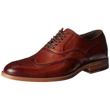Mens 13 Cognac (STACY ADAMS Men's Dunbar-Wingtip Oxford, Cognac, 12 M)
