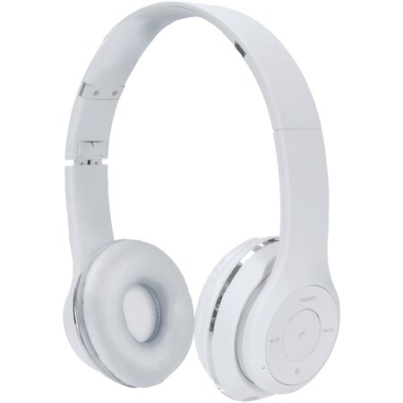 2BOOM HPBT345W Thunder Bluetooth Over-Ear Headphones with Microphone (White)