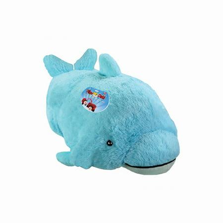 My Pillow Pet Dolphin - Large (Light Blue) Children, Kids, Game
