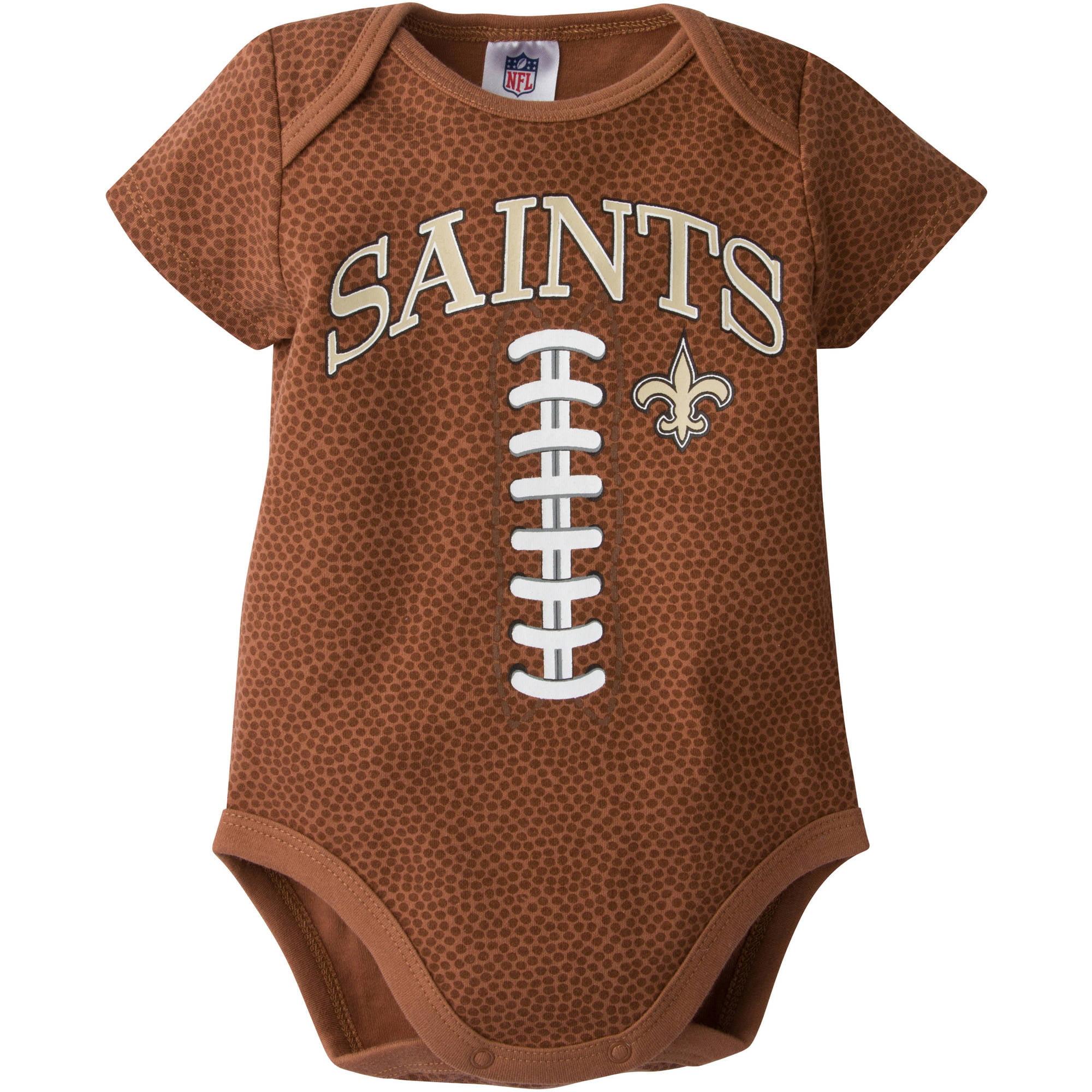 NFL New Orleans Saints Baby Boys Football Print Bodysuit