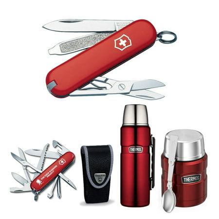 Zone Outdoor Beverage - Victorinox S.A.K Fieldmaster Pocket Knife Outdoor Bundle w/ Beverage Bottle &