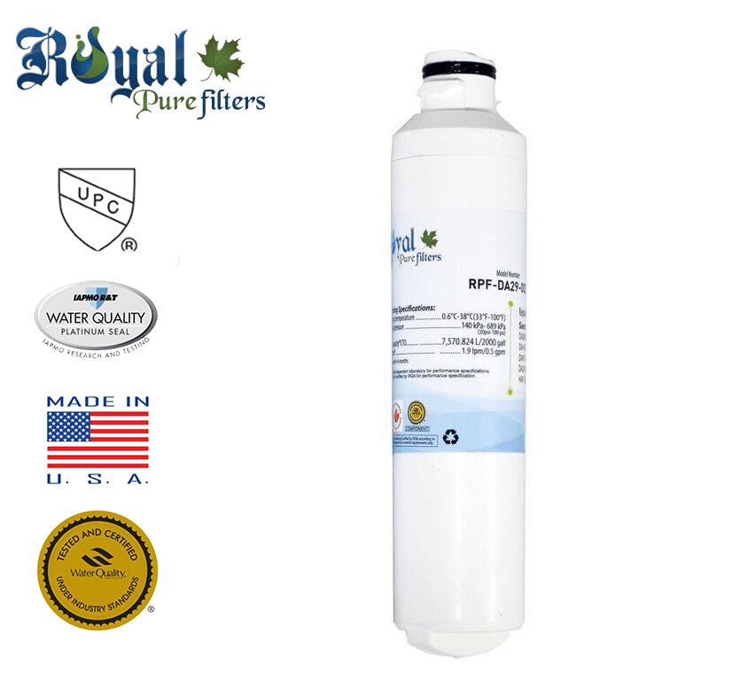 [1-Pack] Royal Pure Filters RPF-DA29-0020B Replacement Water Filter For Samsung DA29-0020B, DA2900019A, DA2900020A, DA-97-08006A-B, DA-97-08006B, HAF-CIN, HAF-CIN-EXP, HAF-CINEXP