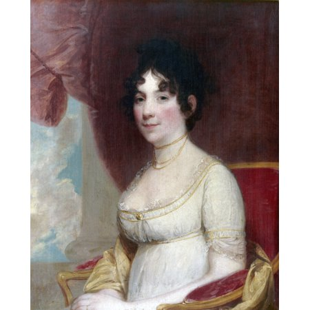 Dolley Payne Todd Madison N 1768 1849  Wife Of President James Madison Oil On Canvas 1804 By Gilbert Stuart Rolled Canvas Art     24 X 36