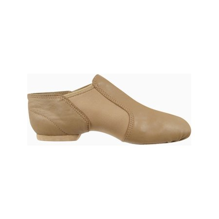 Girls Beige Leather Split-Sole Neoprene Wrap Wide Jazz Shoes 10-4 Toddler](Clearance Girl Shoes)