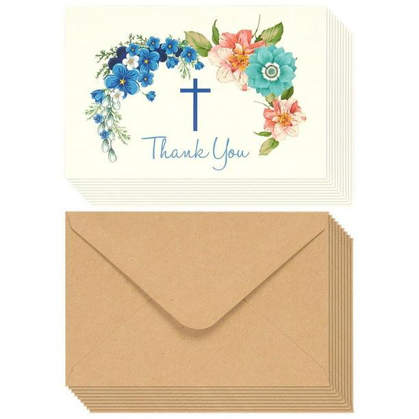 Blank Inside Pack of 4 Dot Flower Button Notecards