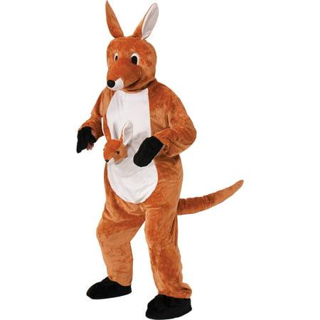Kangaroo Jumpin Jenny Mascot Neutral Adult Halloween Costume (Kangaroo Costume Adult)