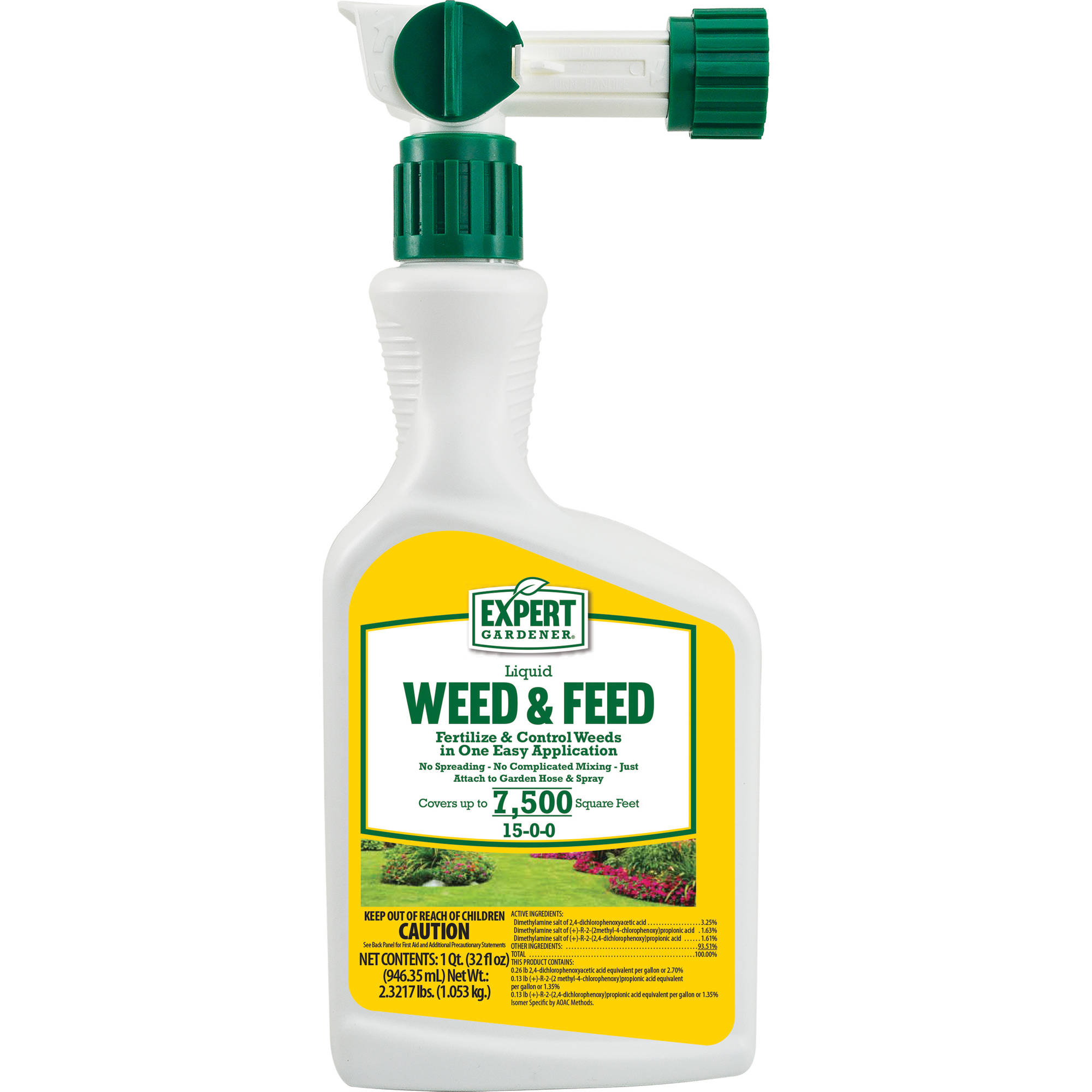 expert gardener weed and feed. Expert Gardener Weed And Feed 15-0-0 Liquid Hose-end Covers 7,500 R