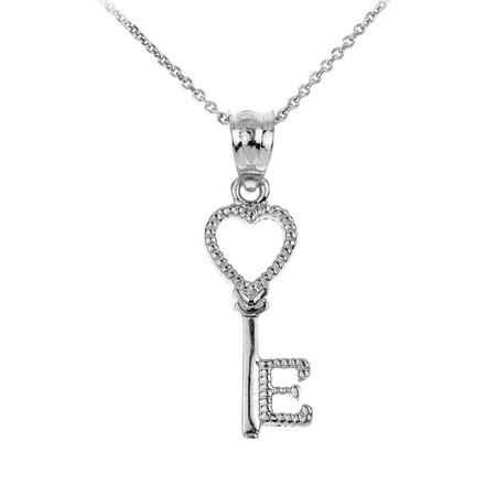 Sterling silver heart key pendant necklace walmart sterling silver heart key pendant necklace aloadofball Image collections