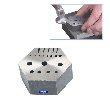Hexagonal Riveting Anvil Jeweler Multi-Functional Bench Hex Steel Block (Block Jewelers)