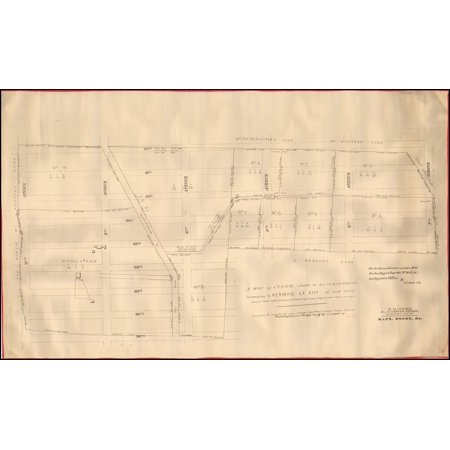 LAMINATED POSTER A Map of a Farm situate in Bloomingdale belonging to Herman Le Roy of New York surveyed Feb. 6. 1796 by Cassimir T. Goerck City Surveyor POSTER PRINT 24 x 36 (Party City Bloomingdale)