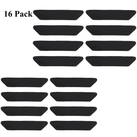 16-Pack Rug Grippers Stopper Anti Slip Rubber Corner Mat Reusable Washable Carpets Pad ()