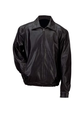 Product Image Gianni Collani™ Men s Solid Genuine Leather Bomber-Style  Jacket - Size - Medium 9af192239f4