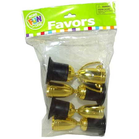 GOLD TONE TROPHY PARTY FAVORS, 4 COUNT ,FUN - All Star Trophy