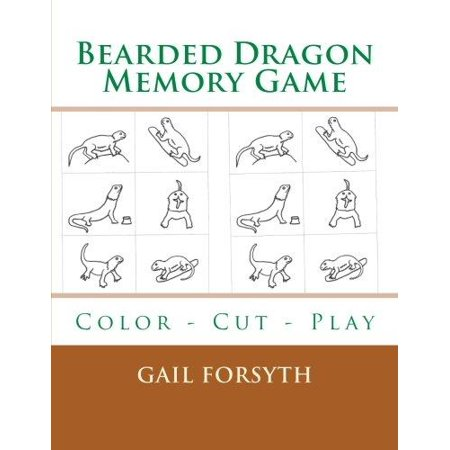 Bearded Dragon Memory Game: Color - Cut - Play - image 1 of 1