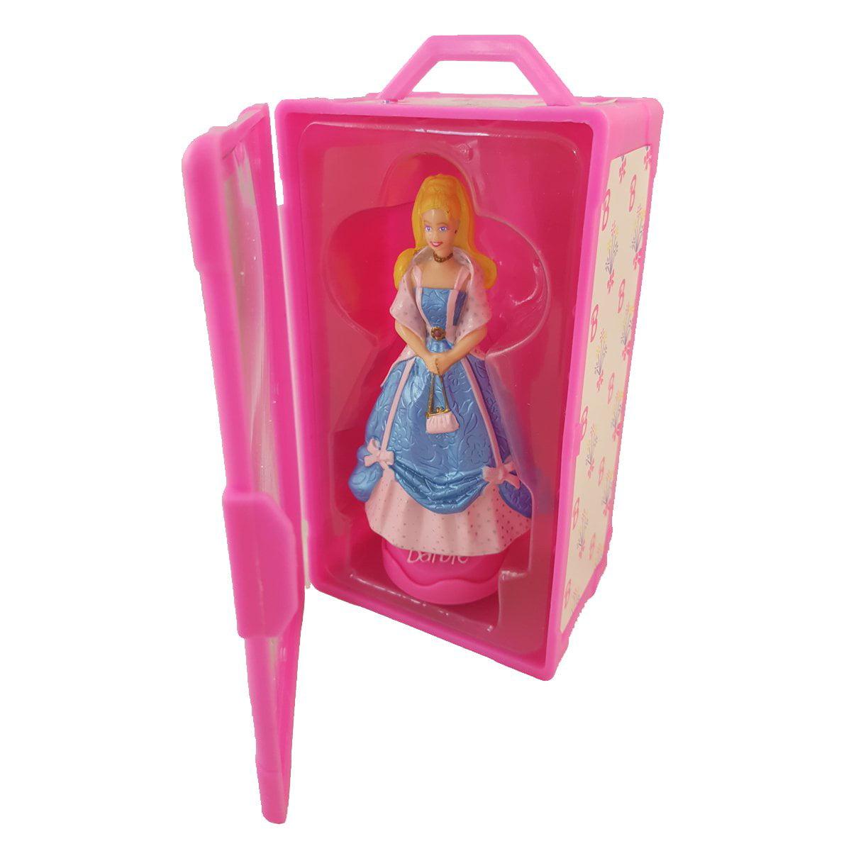 1997 Mattel Barbie Doll Spring Blue Dress Pink Petticoats Dress Stamper in Plastic Pink... by Tara Toy Company