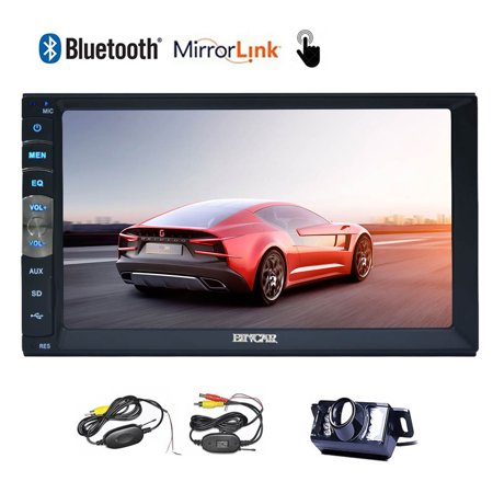 Car Stereo In Dash Car MP5 Player Double 2 Din Car Auto Radio Receiver Video Audio Vehicle Automotive PC Bluetooth System No-DVD Headunit with Mirror Link for Android GPS Phones - Camera Receiver Set