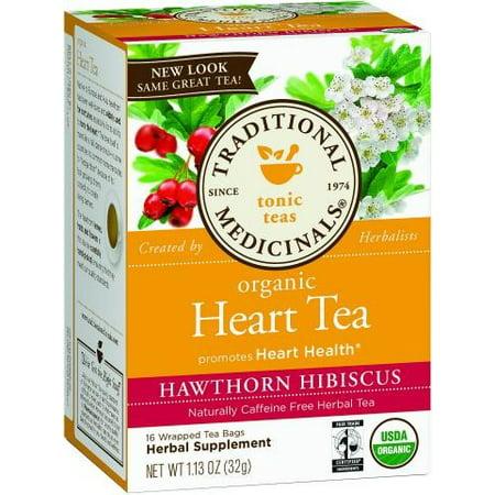 Hewthorn organique avec Hibiscus TRADITIONAL MEDICINALS 16 sachet de thé