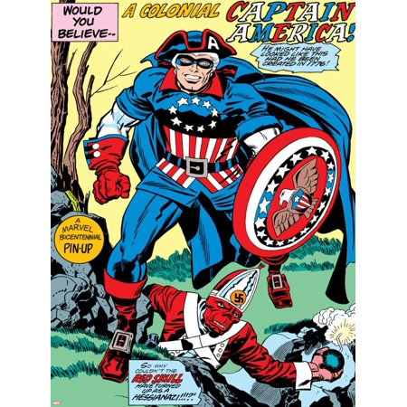 Captain America Bicentennial Battles: Captain America and Red Skull Poster Wall Art By Jack