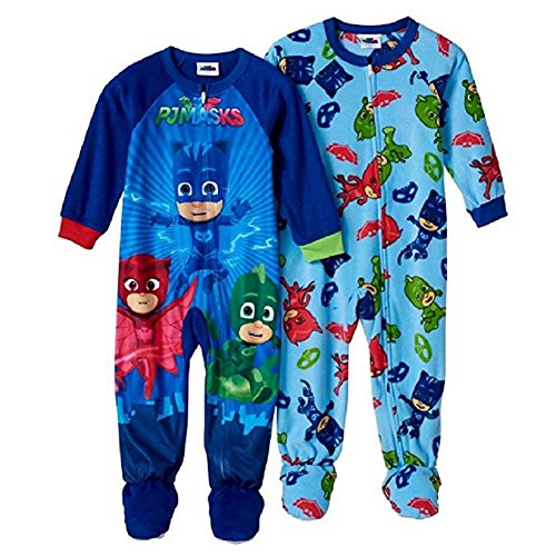 Nice PJ Masks Blanket Sleeper Footed Pajamas Toddler Boy (2T)