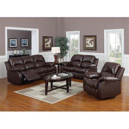 Myco Furniture 1070s Brn Brown Kaden Bonded Leather Sofa