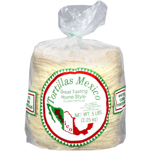 Tortillas Mexico: White Corn Corn Tortillas, 5 Lb