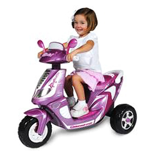 6-Volt Battery-Powered Girl's Scooter