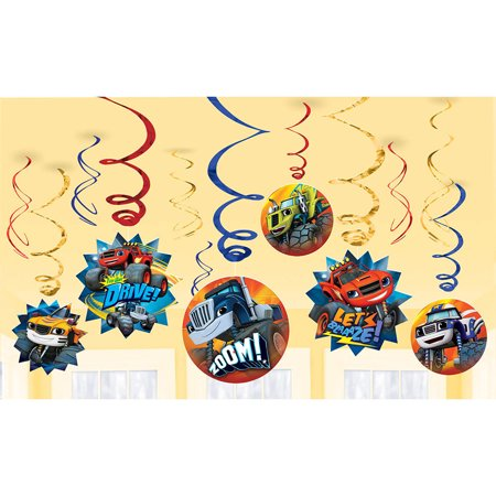 Blaze and the Monster Machines Value Pack Foil Swirl Decorations - Party Supplies - Monster High Table Decorations