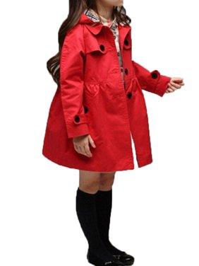 New Kids Girl Fashion Tops Trench Coat Cute Outwear Children Wind jacket 2-7Year