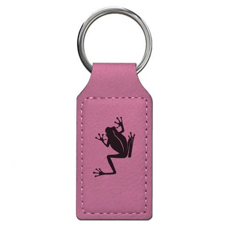 Keychain - Tree Frog - Personalized Engraving Included (Pink