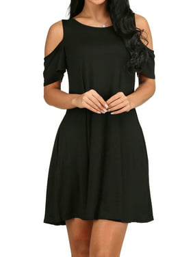 6001ad8bf0 Product Image 5 Color LMart Women Solid Color Cold Shoulder Above The Knee  Slim Fit Party Dress. Product Variants Selector. Black