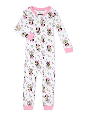 Minnie Mouse Baby and Toddler Girls Snug Fit Cotton Footless Sleeper Pajamas