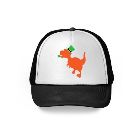 Awkward Styles Cute Dinosaur Leprechaun Hat St. Patrick's Day Cap Irish Baseball Cap Women's Men's St Patricks Day Top Hat St Patricks Day Green Hat Trucker Irish Green Baseball Hats
