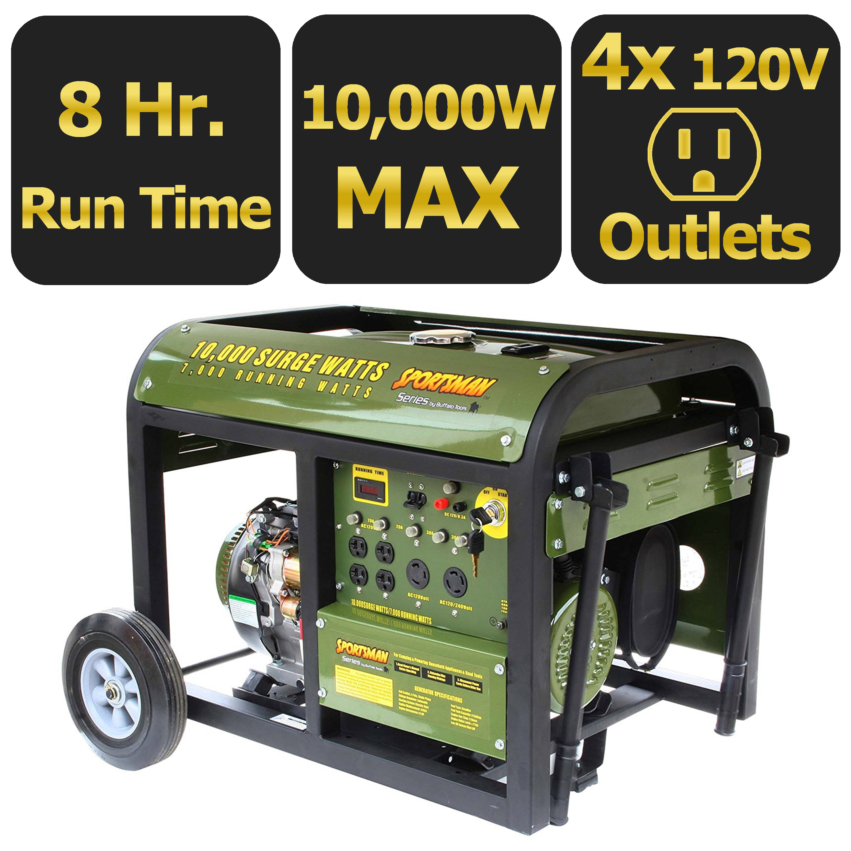 Sportsmans Series 10,000-Watt Generator