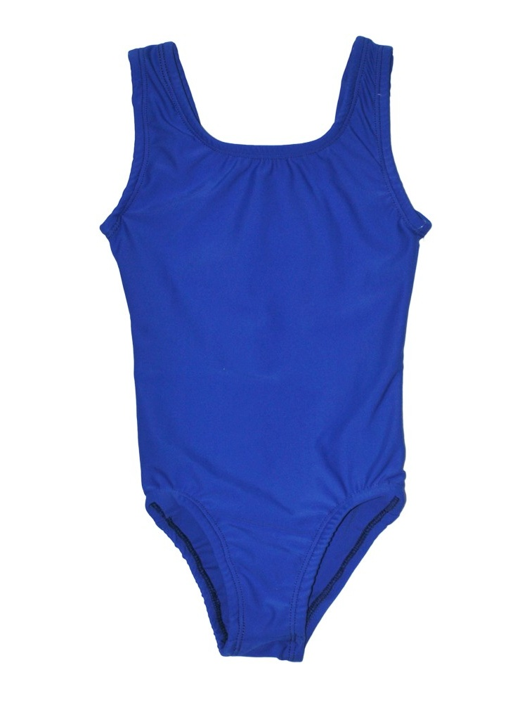 Girls Royal Blue Full Front Lining Tank Dancewear Leotard
