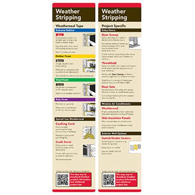 GFX DS09-2034-S09-H36 Window & Door Insulation Pop Kit