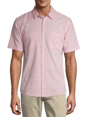 George Men's and Big Men's Premium Short Sleeve Textured Woven Shirt
