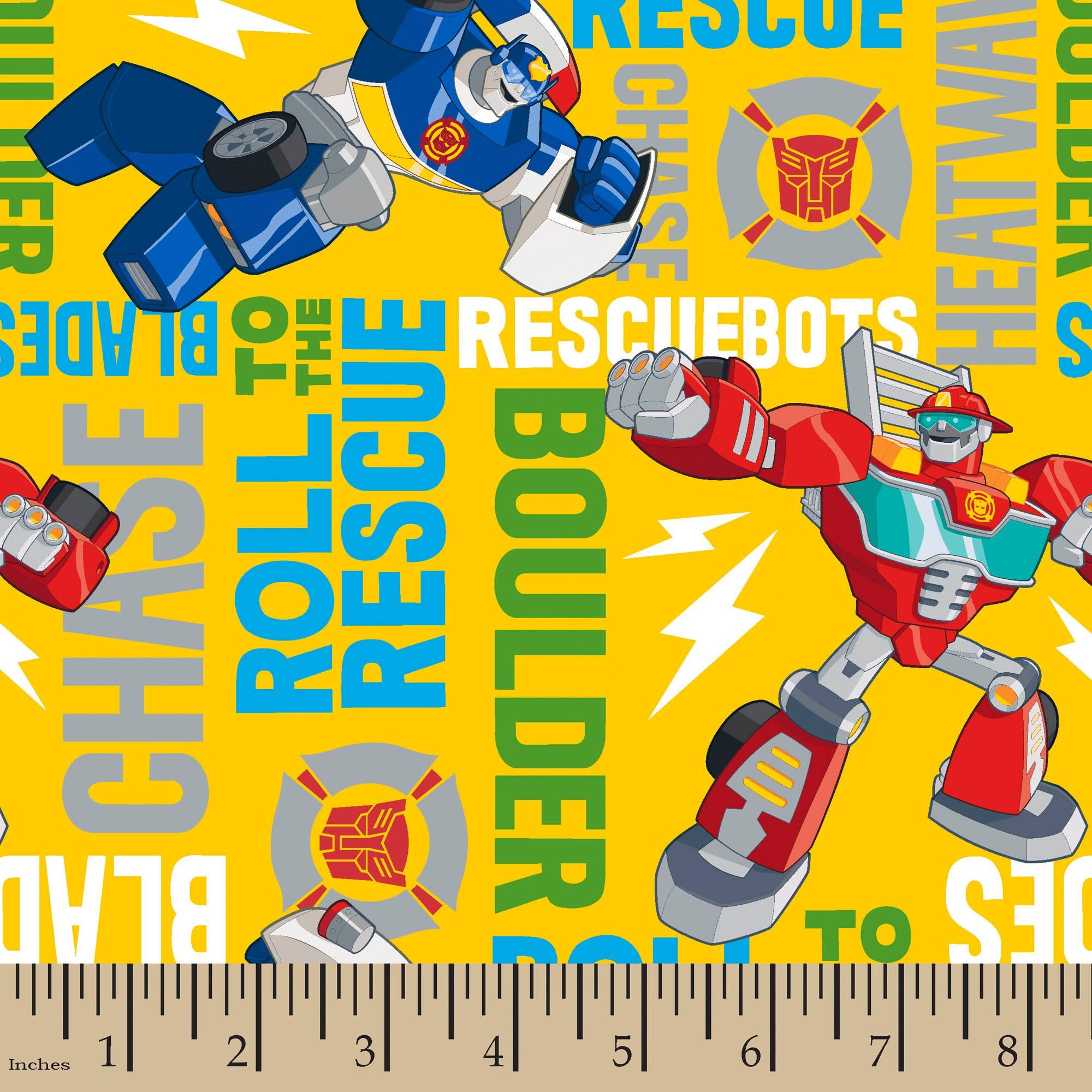 Hasbro Transformers Rescue Bots Roll To The Rescue, Multi Colored, 100  Percent Cotton