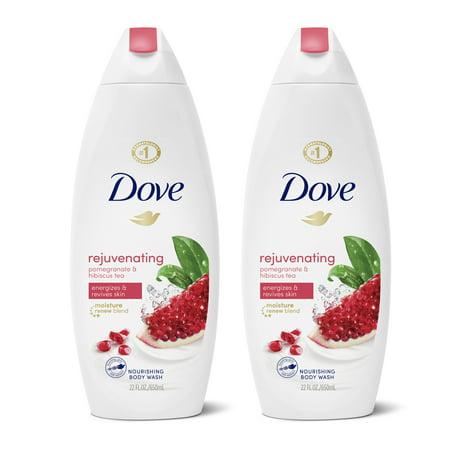 Dove Rejuvenating Body Wash Pomegranate and Hibiscus Tea, 22 oz, 2 Count
