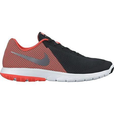 Nike Flex Experience RN 6 Black/Metallic Hematite/Hyper Orange/White Mens  Running