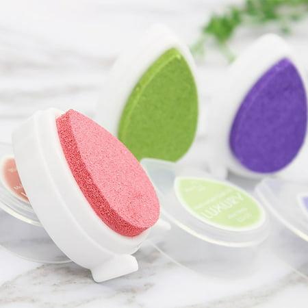 Mini Water Droplets Shape Ink pad Colorful Ink Pad/Ink Stamp Pad/Inkpad Set - image 2 de 10