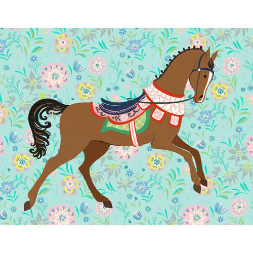 Oopsy Daisy - Floral Filly - Bay Canvas Wall Art 18x14, Pim Pimlada