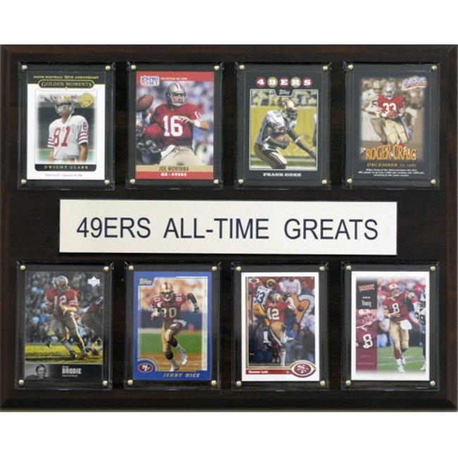 NFL San Francisco 49ers All-Time Greats Plaque - image 1 of 1