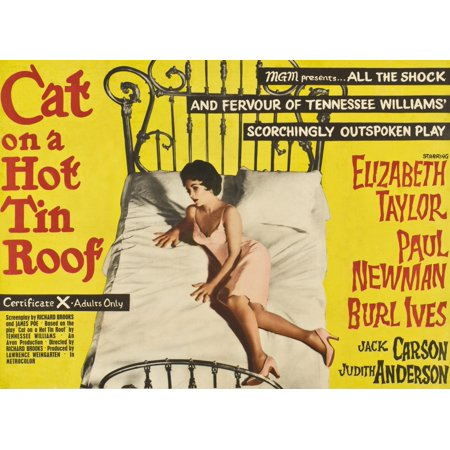 Cat On A Hot Tin Roof Elizabeth Taylor On Uk Poster Art 1958 Movie Poster