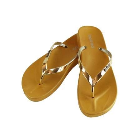 Women's Summer Metallic Strap Casual Thongs Flat Flip Flops Sandals