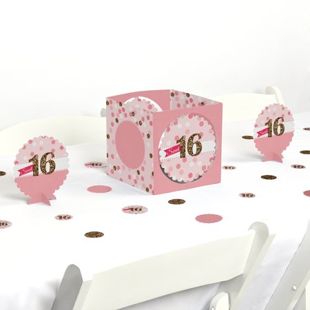 Sweet 16 - Birthday Party Centerpiece & Table Decoration Kit for $<!---->