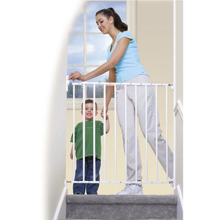 Albolene Extra Tall Top Of Stairs Gate W Alarm Walmart Com