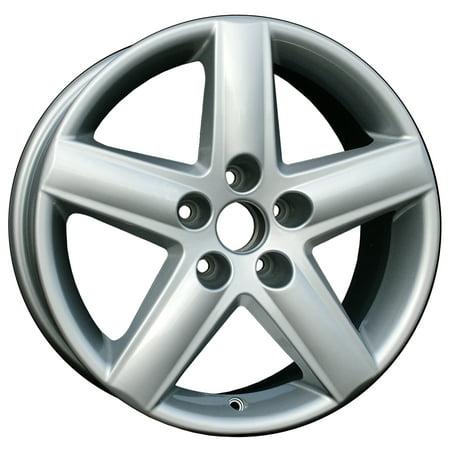 Aftermarket 2002-2008 Audi A4 Quattro  17x7.5 Aluminum Alloy Wheel, Rim Sparkle Silver Full Face Painted -